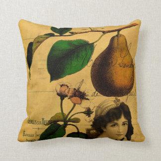 Botanical Fruit Throw Pillow
