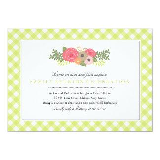 "Botanical Garden Family Reunion Invitation 5"" X 7"" Invitation Card"
