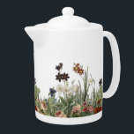 "Botanical Garden Flowers Collection Tea Pot<br><div class=""desc"">Vintage Botanical Garden Flowers Collection Tea Pot. This design was created by botanical illustrations from 100 to 150 years ago,  and arranged into an elegant flower and greenery garden.</div>"