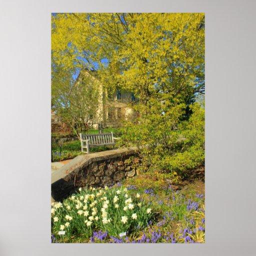 Botanical Garden in Spring Poster