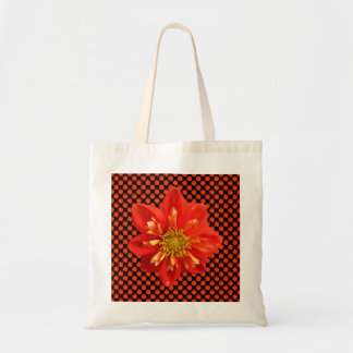 Botanical Garden Orange Dahlia Flower Tote Bag