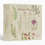 Botanical Garden Recipe Binder