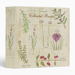 Botanical Garden Recipe Binder