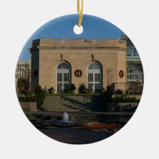 Botanical Gardens at Christmas in Washington DC Double-Sided Ceramic Round Christmas Ornament
