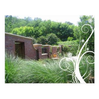 Botanical Gardens Brick Wall Notecard Postcard