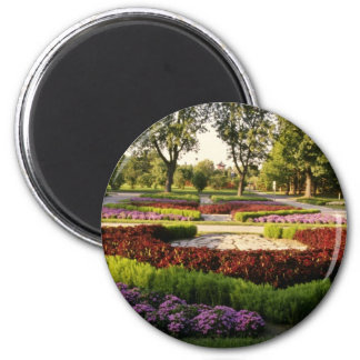 Botanical Gardens, the annuals, Montreal, C 2 Inch Round Magnet