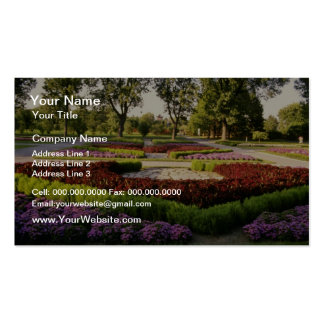 Botanical Gardens, the annuals, Montreal, C Business Card Template