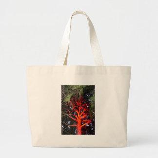 BOTANICAL GARDENS TREE WITH RED LIGHTS HOBART LARGE TOTE BAG