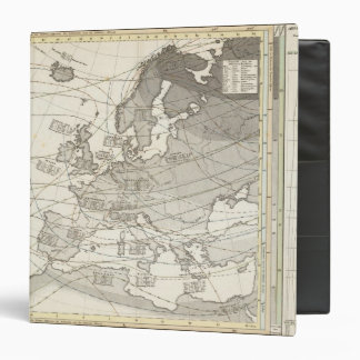 Botanical geographical statistical map of Europe Binder