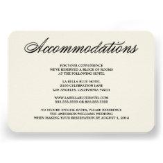 Botanical Glamour | Accommodation Enclosure Card