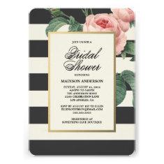 Botanical Glamour   Bridal Shower Invitation