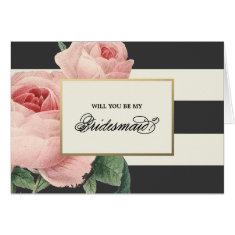 Botanical Glamour   Bridesmaid Card