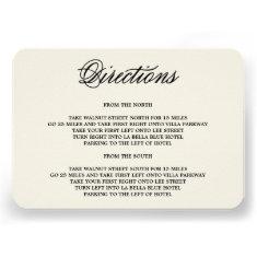 Botanical Glamour | Direction Enclosure Card
