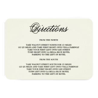 Botanical Glamour | Direction Enclosure Card Personalized Announcement