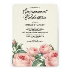 Botanical Glamour   Engagement Party Invitation