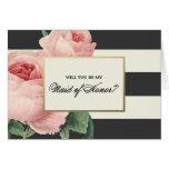 Botanical Glamour   Maid of Honor Card