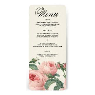 Botanical Glamour   Menu Invite