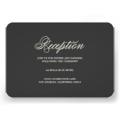 Botanical Glamour   Reception Enclosure Card