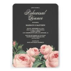 Botanical Glamour   Rehearsal Dinner Invitation