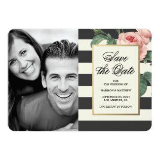 Botanical Glamour | Save the Date Photo Card Custom Invite