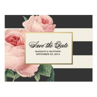 Botanical Glamour | Save the Date Postcard