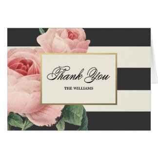 Botanical Glamour   Thank You Note Card