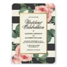 Botanical Glamour   Wedding Invitation