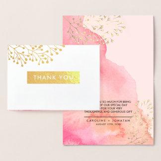 Botanical | Gold Foil Wedding Thank You Cards