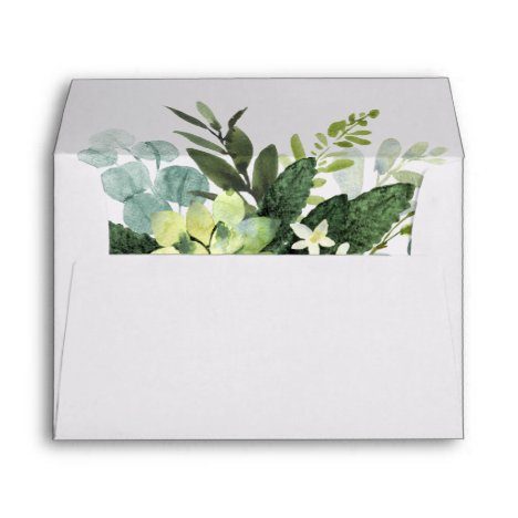 Botanical Gold Greenery Pre-Printed Address 5x7 Envelope