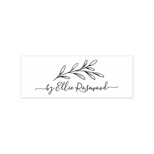 Botanical Greenery Script Create Your Own Rubber Stamp