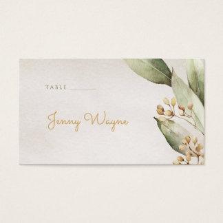 Botanical greenery vintage rustic escort cards