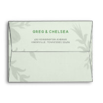 Botanical Greenery Wedding Invitations Envelope