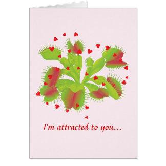 Botanical Humor Valentine Greeting Cards