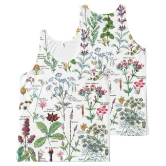 Botanical Illustrations - Larousse Plants All-Over Print Tank Top
