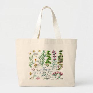 Botanical Illustrations - Larousse Plants Large Tote Bag