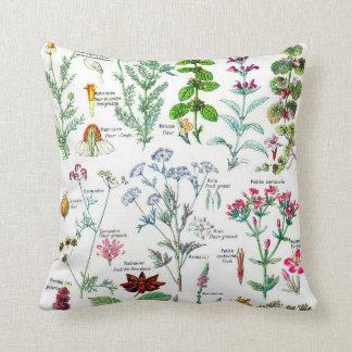 Botanical Illustrations-Larousse Plants Throw Pillow
