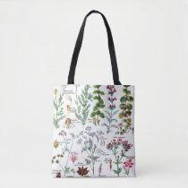 Botanical Illustrations - Larousse Plants Tote Bag