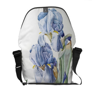 Botanical Iris Flower Floral Garden Messenger Bag