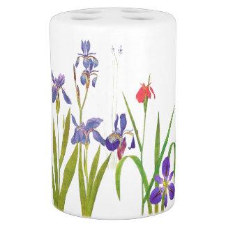 Botanical Iris Flowers Floral Garden Bathroom Set