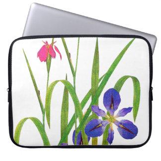 Botanical Iris Flowers Floral Garden Redoute Computer Sleeve