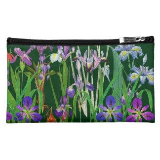 Botanical Iris Flowers Floral Garden Redoute Cosmetic Bag