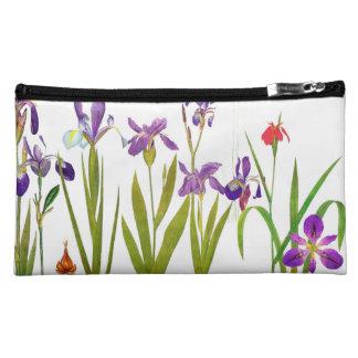 Botanical Iris Flowers Floral Garden Redoute Makeup Bag