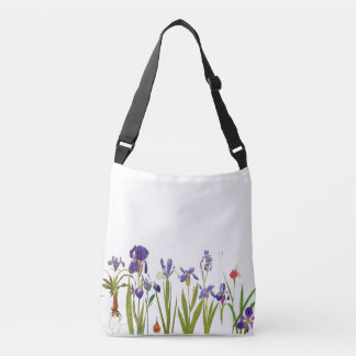 Botanical Iris Flowers Floral Garden Tote