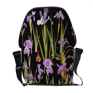 Botanical Iris Flowers Floral Irises Courier Bag