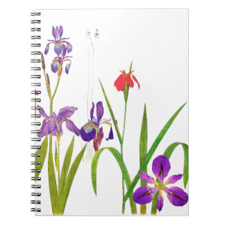 Botanical Iris Flowers Floral Irises Notebook