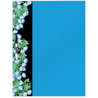 Botanical Japanese Morning Glory Flowers Floral Dry-Erase Board