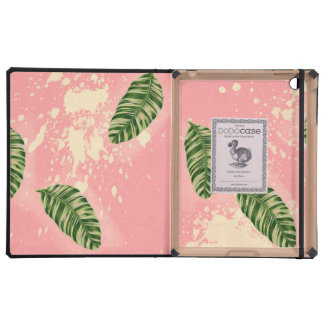 Botanical Leaves On Pink Background iPad Covers