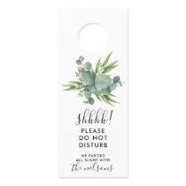 Botanical Leaves Wedding Welcome/Do Not Disturb Door Hanger