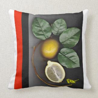 Botanical Lemon Red Orange Pillow