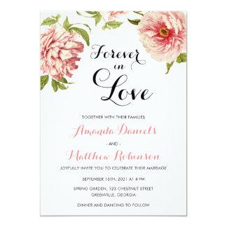 Botanical Modern Wedding Invitation. Floral Invite